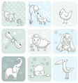 Baby card with animals vector