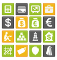 Set with business and finance icons vector