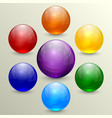 Set of colorful crystal globes vector