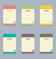 Flat design colorful memo vector
