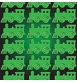 Seamless background with steam locomotives vector