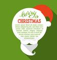 Flat christmas card with long shadow vector