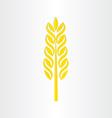 Wheat grain stylized icon design vector