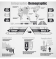 Infographic demographic new style 10 grey vector