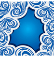 Abstract swirl blue brush stroke background vector