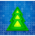 Abstract-rounded-green-christmas-tree-on-blue vector