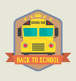 Back to school badge vector