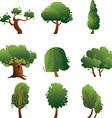 Set of trees - summer vector