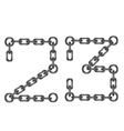 Chain numbers 23 vector