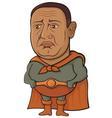 Sad superhero vector