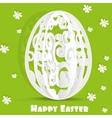 Happy easter egg openwork appliques postcard vector