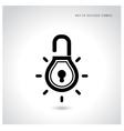 Creative light bulb idea concept with padlock sign vector