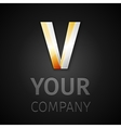 Abstract logo letter v vector