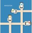 Navigation app vector