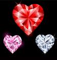 Precious stones in heart shape vector