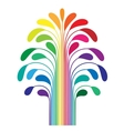 Abstract simple stylized tree rainbow color vector