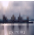 Blurred background with city and river vector