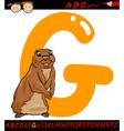 Letter g for gopher cartoon vector