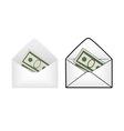 Envelope with money vector