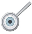 Eyeball in magnifying glass vector