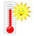 Sun of thermometer vector