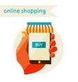 Online shopping sale flat design modern vector