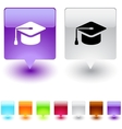 Graduation square button vector