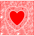 Ornate valentin day card with heart vector