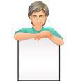 A man with an empty signboard vector
