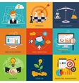 Flat business and finance concepts  design vector