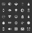 Design time icons on gray background vector