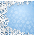 Christmas background of snowflakes vector