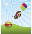 Young girl grocery shopping vector