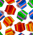 Seamless texture with color gifts vector