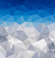 Blue winter triangular background vector