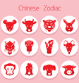 Chinese zodiac icons set vector