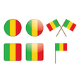 Badges with flag of mali vector