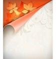 Autumn corner card vector