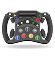 Steering wheel of racing car vector
