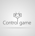 With icon for game control vector