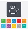 Chicken sign icon hen bird meat symbol vector