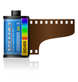 35mm film canister vector