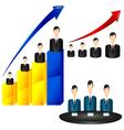 Businessman chart icon vector