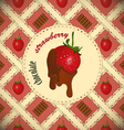 Chocolate dipped strawberrie vector