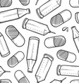 Drugs and alcohol seamless pattern vector