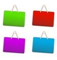 Blank colorful plastic sign vector