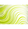 Wavy abstract backbround in green color vector