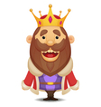 Cartoon king vector