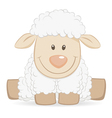 Cartoon baby sheep vector