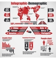 Infographic demographic new style 10 red vector